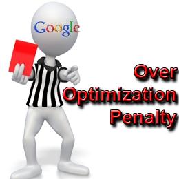 SEO Over Optimization Penalty
