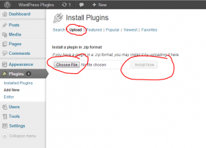 upload install plugin