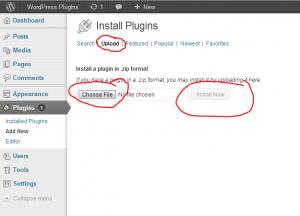 upload install plugin