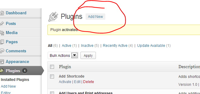 wordpress plug in print addresses