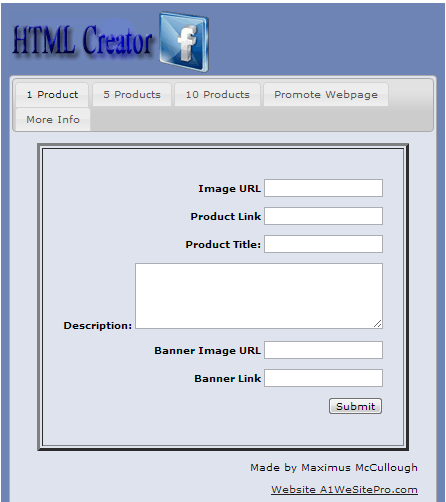 create html for Fanpages