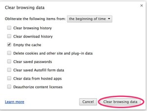 Clear Google Chrome Browsing History