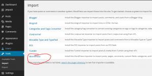 import export tool wordpress