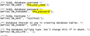 phpmyadmin username password