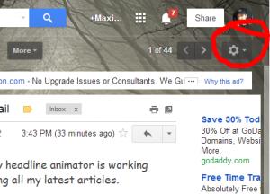 settings in gmail