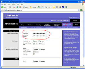 change password linksys