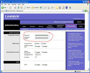 change password linksys