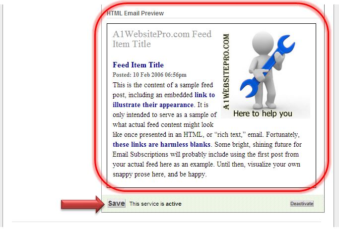 how to enable email subscription feedburner