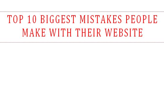 website mistake