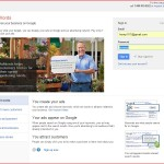 Adwords Sign in page