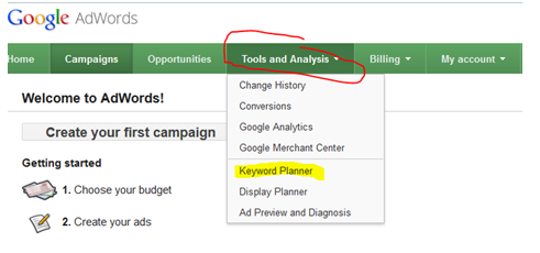 USING THE GOOGLE KEYWORD PLANNER