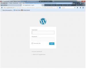 logging into wordpress