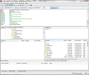 install a module with filezilla