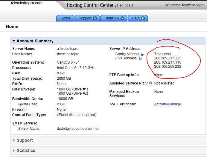 ip address hosting provider