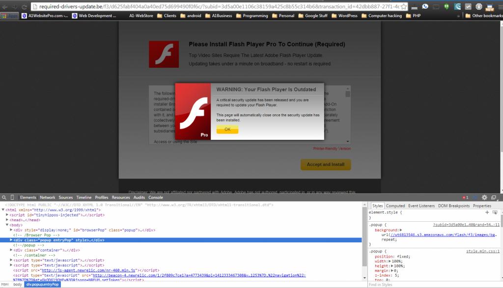 flash update shellshock