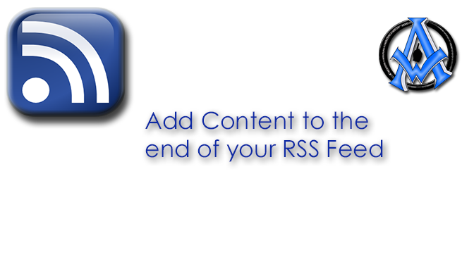 Add Content to the End of Your RSS feed in WordPress