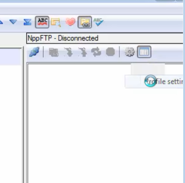 connecting to the server with notpad plus plus rpfile settings