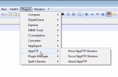 connecting to the server with notpad plus plus