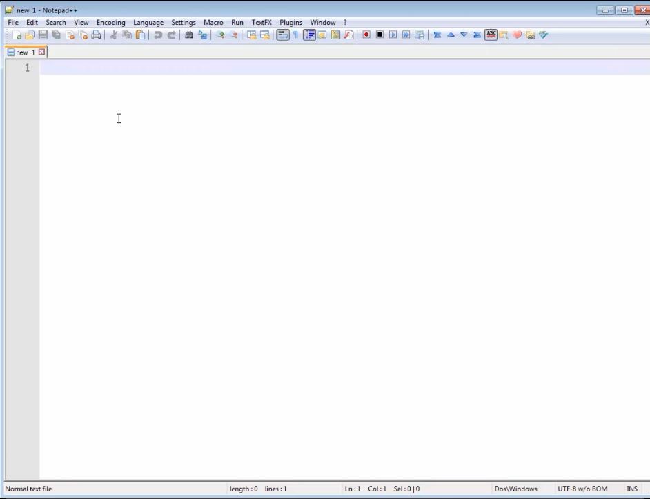 notepad plus plus window