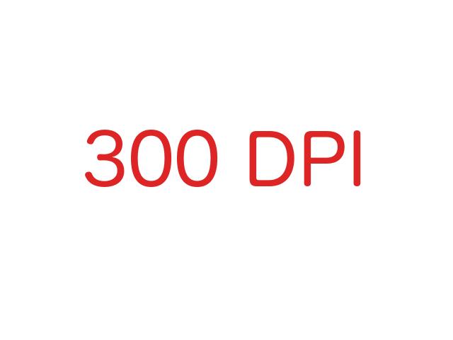 300dpi in GIMP