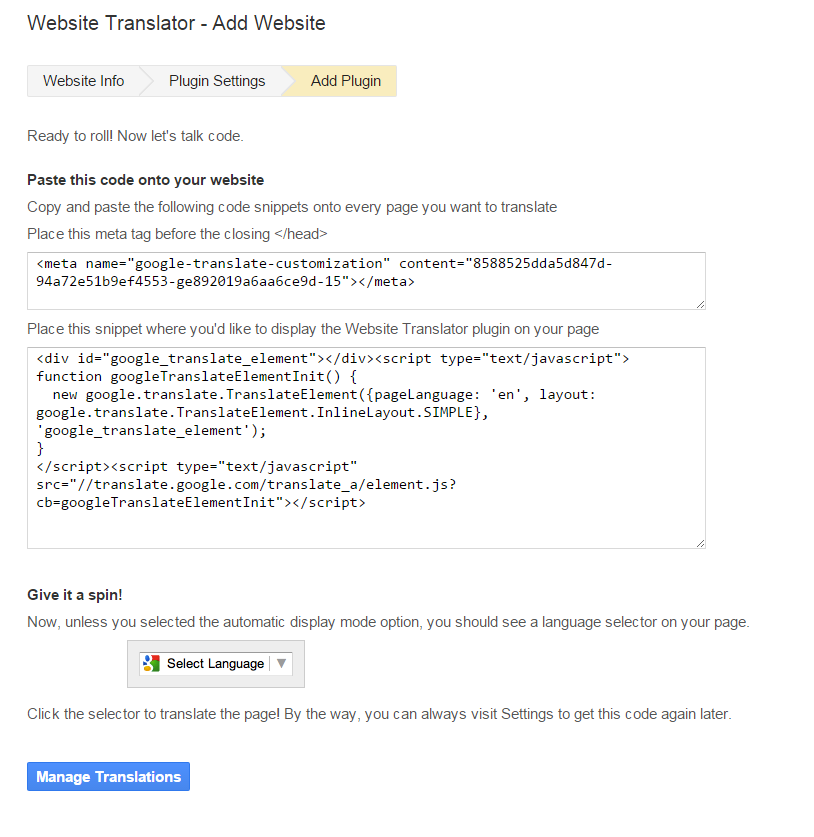 Additional Languages on Websites Creates More Targeted Visitors get code