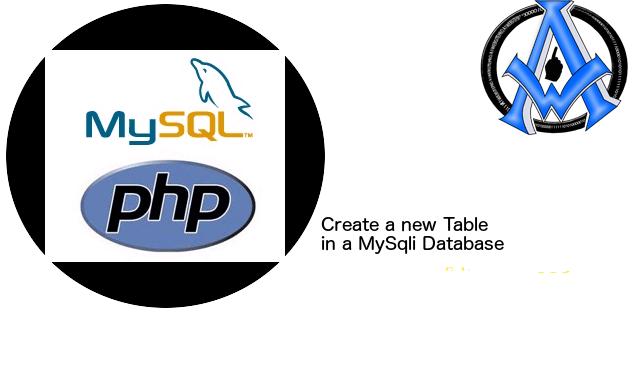 Create a new Table in a MySqli Database
