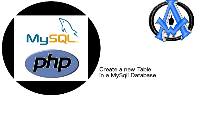 Create a new Table in a MySqli Database