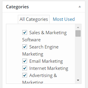 Use the Google suggested categories in your website
