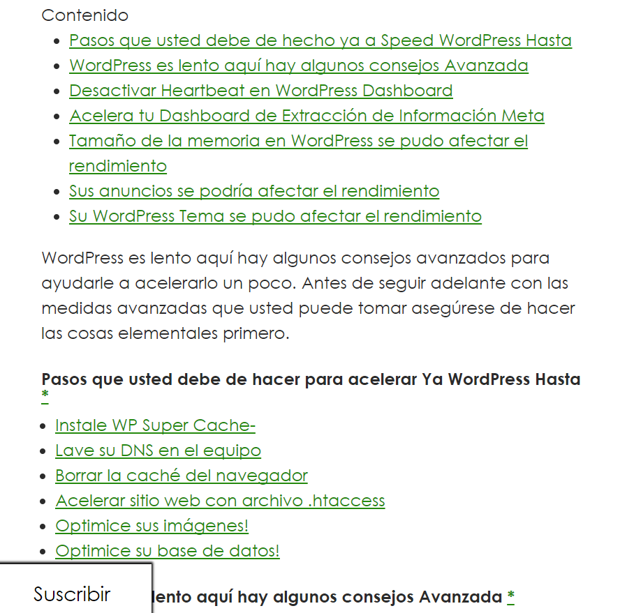 a1websitepro in spanish