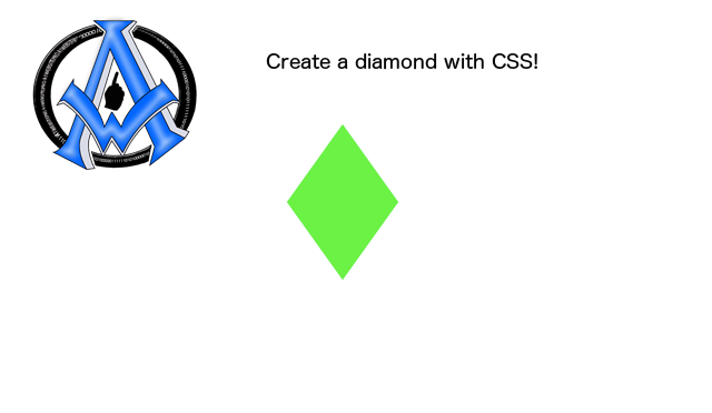 create-a-diamond-with-css