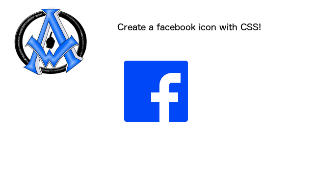 Create a Facebook Icon in CSS