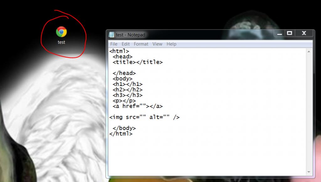 html basics desktop test file