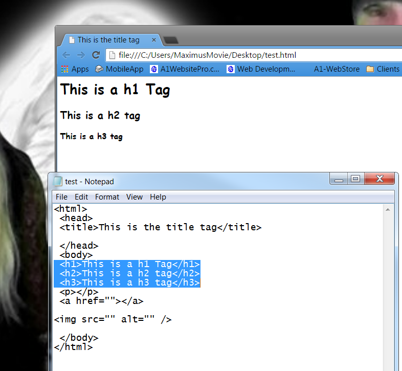 html basics h tags