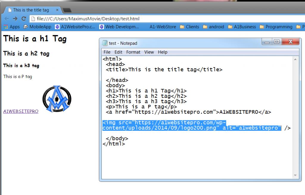 html basics img tag
