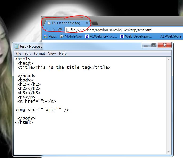 html basics title tag