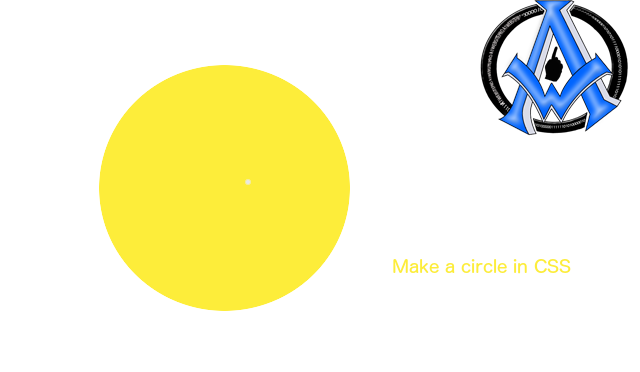 make a circle in css