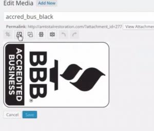rotate image left wordpress
