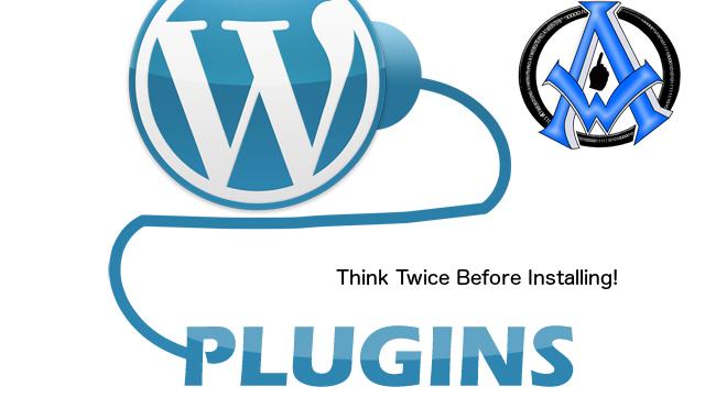 think twice before installing a wordpress plugin