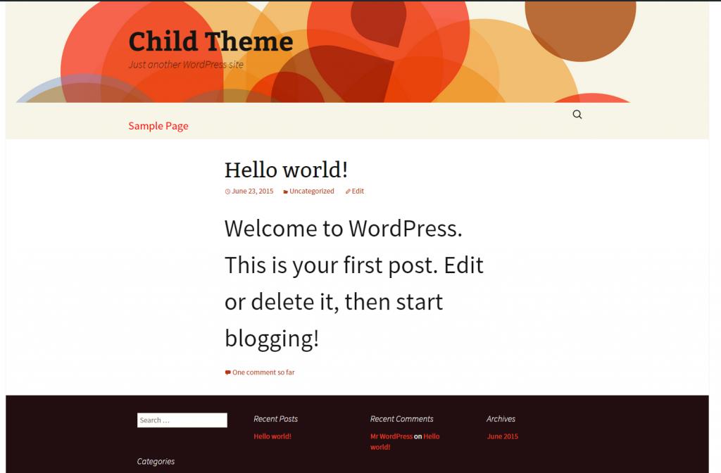 Editing Child Theme in WordPress