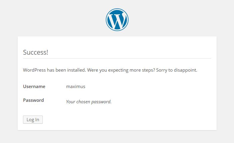WordPress Login Prompt