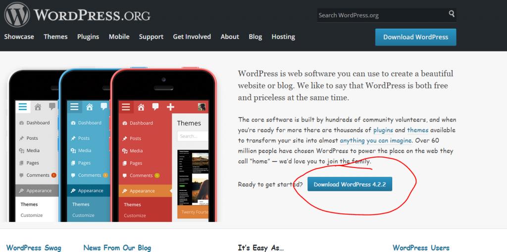 download latest version of WordPress