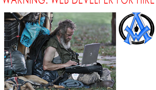 Warning-Web-Developer-For-Hire,-Web-Development-DIY