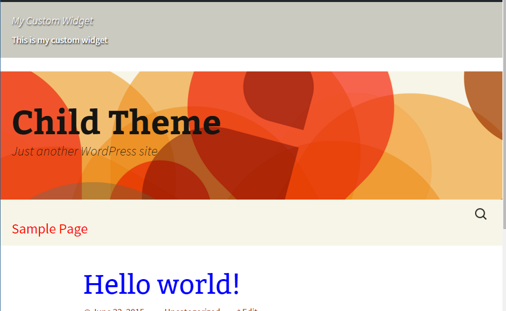 making changes in the stylesheet