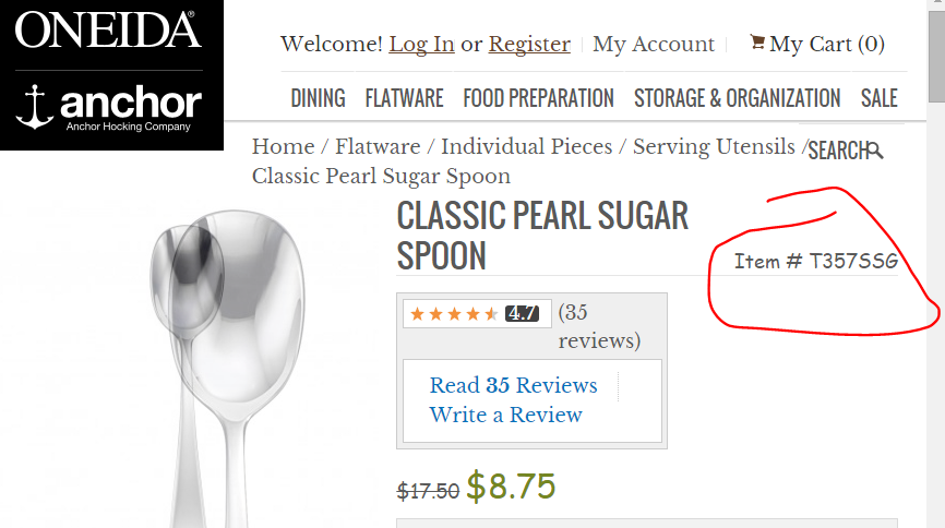Another Item Number For My Spoons