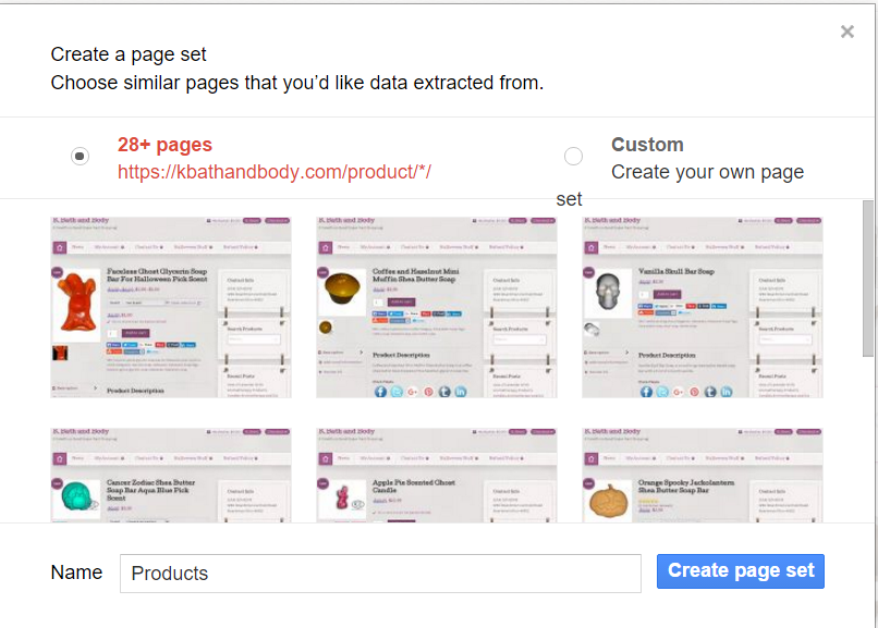 Create a Page Set