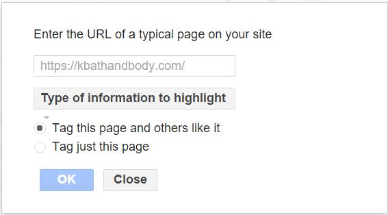 Data Highlighter Options Box