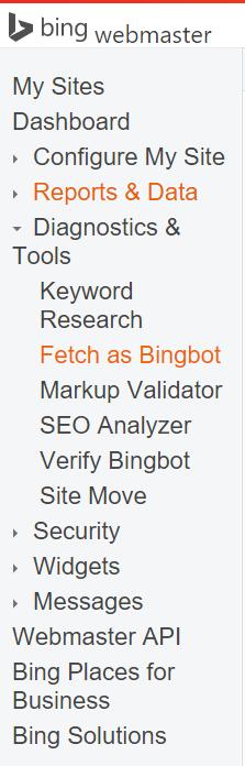 Fetch as Bingbot