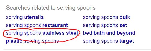 Google Result Serving Spoon Stainless Steel