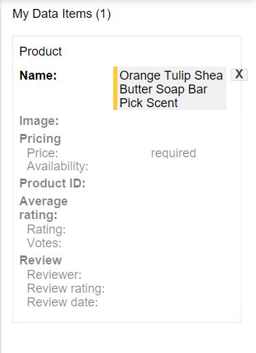 My Data Items Update