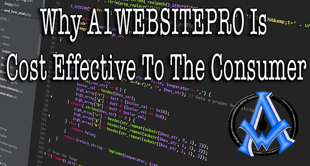 Why A1WEBSITEPRO Is Cost Effective To The Consumer